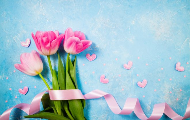 Spring holiday background. Flowers for Valentine's, Mother's or Women's Day